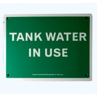 Rainwater Sign - Green