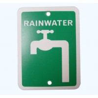 Rainwater Sign Double Sided 75mm x 100mm