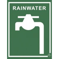 Rainwater Tap Sign Metal 70mm x 92mm