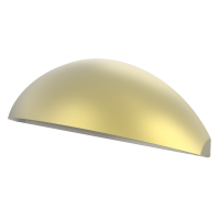 Aqualux LED Phoenix Eyelid Step/Wall Light Natural Brass