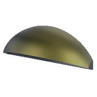 Aqualux LED Phoenix Eyelid Step/Wall Light Aged Brass