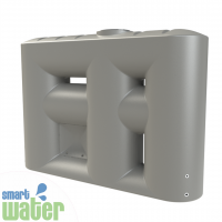 Melro: Slimline Water Tank with Pump Cavity (3060L)