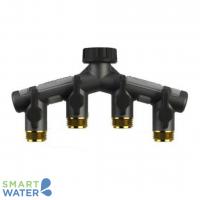 Orbit: Pro-Flo 4-Way Hose Faucet Manifold (20mm)