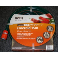 Neta Emerald Garden Hose with fittings 12mm x 15M