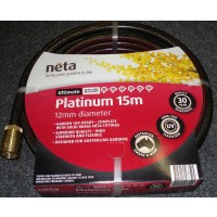 Neta Platinum garden hose with Fittings 12mm x 15M